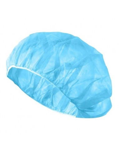 Pack 100 Blue Disposable Caps