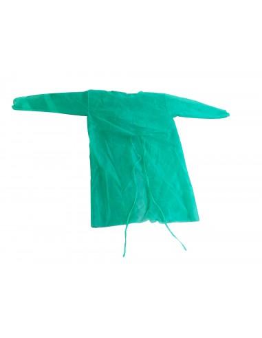 Polypropylene Gown Green 10 Und