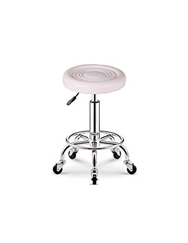 Round Stool with Foot Rest